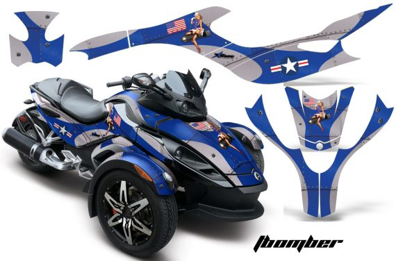CAN AM SPYDER TBOMBER BLUE 570x376 - Can-Am Spyder RS GS Graphics