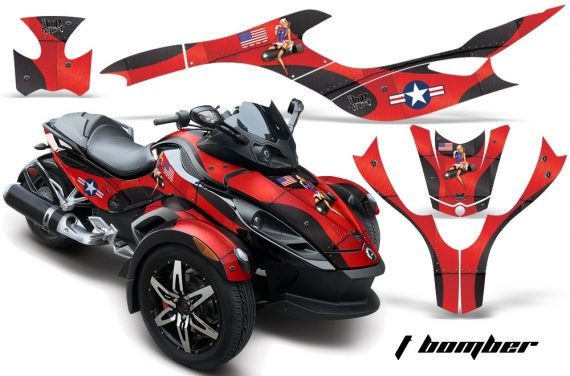 CAN AM SPYDER TBOMBER RED BLACKBG WEB 570x376 - Can-Am Spyder RS GS Graphics