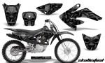 CRF 70 80 100 Graphics Kit Skullcified Black 150x90 - Honda CRF70 2004-2015 Graphics