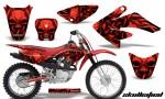 CRF 70 80 100 Graphics Kit Skullcified Red 150x90 - Honda CRF70 2004-2015 Graphics