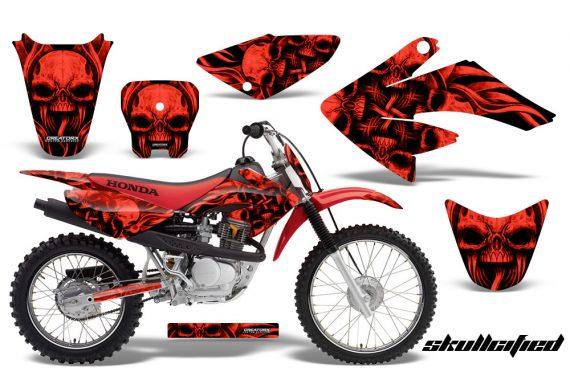 CRF 70 80 100 Graphics Kit Skullcified Red 570x376 - Honda CRF70 2004-2015 Graphics