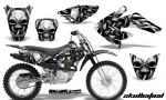 CRF 70 80 100 Graphics Kit Skullcified Silver Black 150x90 - Honda CRF70 2004-2015 Graphics