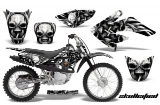 CRF 70 80 100 Graphics Kit Skullcified Silver Black 320x211 - Honda CRF70 2004-2015 Graphics