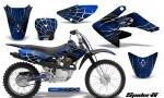 CRF 70 80 100 Graphics Kit SpiderX Blue 150x90 - Honda CRF70 2004-2015 Graphics