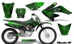 CRF 70 80 100 Graphics Kit SpiderX Green 150x90 - Honda CRF70 2004-2015 Graphics