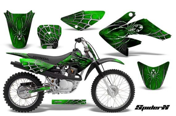 CRF 70 80 100 Graphics Kit SpiderX Green 570x376 - Honda CRF70 2004-2015 Graphics