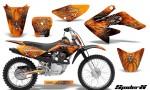 CRF 70 80 100 Graphics Kit SpiderX Orange 150x90 - Honda CRF70 2004-2015 Graphics