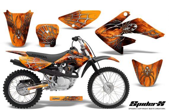 CRF 70 80 100 Graphics Kit SpiderX Orange 570x376 - Honda CRF70 2004-2015 Graphics