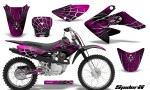 CRF 70 80 100 Graphics Kit SpiderX Pink 150x90 - Honda CRF70 2004-2015 Graphics