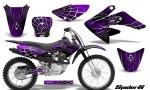 CRF 70 80 100 Graphics Kit SpiderX Purple 150x90 - Honda CRF70 2004-2015 Graphics
