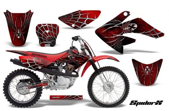 CRF 70 80 100 Graphics Kit SpiderX Red 1 570x376 - Honda CRF70 2004-2015 Graphics