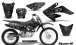 CRF 70 80 100 Graphics Kit SpiderX Silver 150x90 - Honda CRF70 2004-2015 Graphics