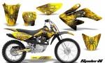 CRF 70 80 100 Graphics Kit SpiderX Yellow 150x90 - Honda CRF70 2004-2015 Graphics