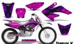 CRF 70 80 100 Graphics Kit TribalX Blue Pink 150x90 - Honda CRF70 2004-2015 Graphics