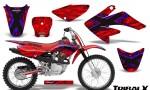 CRF 70 80 100 Graphics Kit TribalX Blue Red 150x90 - Honda CRF70 2004-2015 Graphics