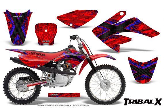 CRF 70 80 100 Graphics Kit TribalX Blue Red 570x376 - Honda CRF70 2004-2015 Graphics