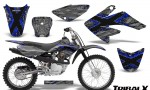 CRF 70 80 100 Graphics Kit TribalX Blue Silver 150x90 - Honda CRF70 2004-2015 Graphics