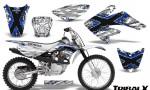 CRF 70 80 100 Graphics Kit TribalX Blue White 150x90 - Honda CRF70 2004-2015 Graphics