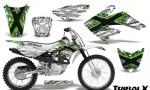 CRF 70 80 100 Graphics Kit TribalX Green White 150x90 - Honda CRF70 2004-2015 Graphics