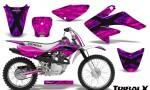 CRF 70 80 100 Graphics Kit TribalX Purple Pink 150x90 - Honda CRF70 2004-2015 Graphics