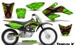 CRF 70 80 100 Graphics Kit TribalX Red Green 150x90 - Honda CRF70 2004-2015 Graphics