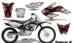 CRF 70 80 100 Graphics Kit TribalX Red White 150x90 - Honda CRF70 2004-2015 Graphics