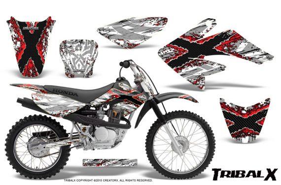 CRF 70 80 100 Graphics Kit TribalX Red White 570x376 - Honda CRF70 2004-2015 Graphics