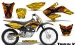 CRF 70 80 100 Graphics Kit TribalX Red Yellow 150x90 - Honda CRF70 2004-2015 Graphics