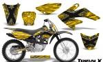CRF 70 80 100 Graphics Kit TribalX Silver Yellow 150x90 - Honda CRF70 2004-2015 Graphics
