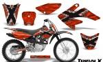 CRF 70 80 100 Graphics Kit TribalX White Red 150x90 - Honda CRF70 2004-2015 Graphics