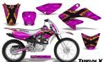 CRF 70 80 100 Graphics Kit TribalX Yellow Pink 150x90 - Honda CRF70 2004-2015 Graphics