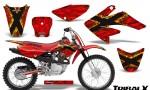CRF 70 80 100 Graphics Kit TribalX Yellow Red 150x90 - Honda CRF70 2004-2015 Graphics
