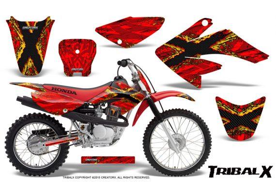 CRF 70 80 100 Graphics Kit TribalX Yellow Red 570x376 - Honda CRF70 2004-2015 Graphics