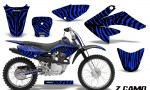 CRF 70 80 100 Graphics Kit ZCamo Blue 150x90 - Honda CRF70 2004-2015 Graphics