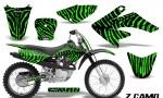 CRF 70 80 100 Graphics Kit ZCamo Green 150x90 - Honda CRF70 2004-2015 Graphics