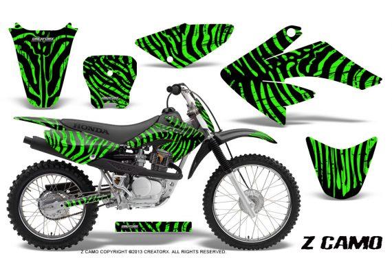 CRF 70 80 100 Graphics Kit ZCamo Green 570x376 - Honda CRF70 2004-2015 Graphics