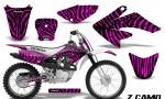 CRF 70 80 100 Graphics Kit ZCamo Pink 150x90 - Honda CRF70 2004-2015 Graphics