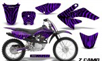 CRF 70 80 100 Graphics Kit ZCamo Purple 150x90 - Honda CRF70 2004-2015 Graphics