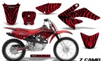 CRF 70 80 100 Graphics Kit ZCamo Red 150x90 - Honda CRF70 2004-2015 Graphics