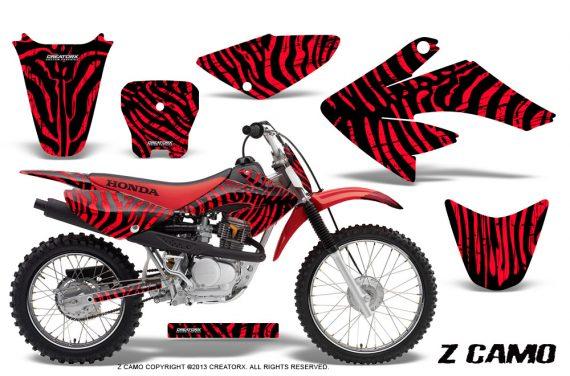CRF 70 80 100 Graphics Kit ZCamo Red 570x376 - Honda CRF70 2004-2015 Graphics