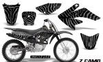CRF 70 80 100 Graphics Kit ZCamo Silver 150x90 - Honda CRF70 2004-2015 Graphics