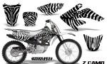CRF 70 80 100 Graphics Kit ZCamo White 150x90 - Honda CRF70 2004-2015 Graphics