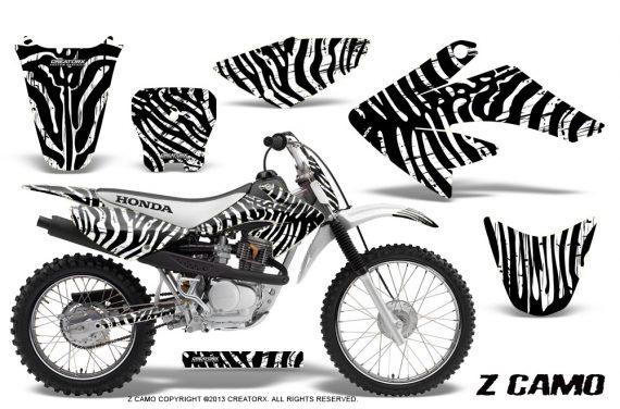 CRF 70 80 100 Graphics Kit ZCamo White 570x376 - Honda CRF70 2004-2015 Graphics