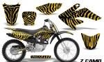 CRF 70 80 100 Graphics Kit ZCamo Yellow 150x90 - Honda CRF70 2004-2015 Graphics