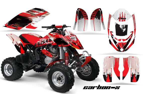 Can Am Bombardier DS650 AMR Graphics Carbon X Red 570x376 - Can-Am DS650 Graphics