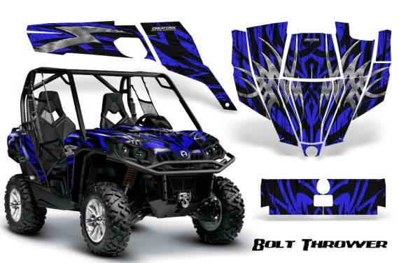 Can Am Commander CreatorX Graphics Kit Bolt Thrower Blue 570x376 - Can-Am BRP Commander 800-1000 Graphics