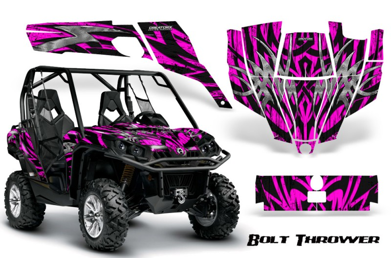 Can-Am-Commander-CreatorX-Graphics-Kit-Bolt-Thrower-Pink