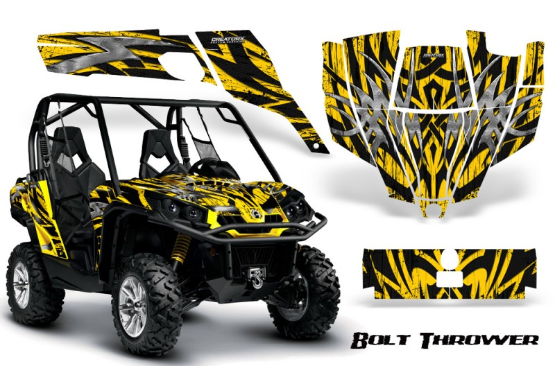 Can-Am-Commander-CreatorX-Graphics-Kit-Bolt-Thrower-Yellow
