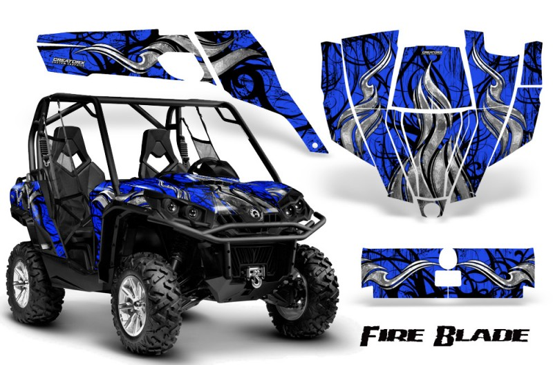 Can-Am-Commander-CreatorX-Graphics-Kit-Fire-Blade-Black-Blue-BB