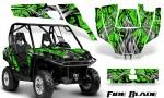 Can Am Commander CreatorX Graphics Kit Fire Blade Black Green BB 150x90 - Can-Am BRP Commander 800-1000 Graphics